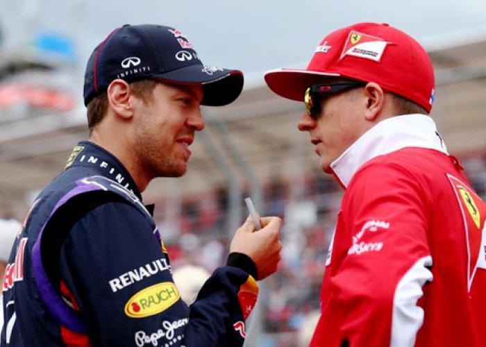 Vettel Geber Ferrari, Raikkonen Berkobar